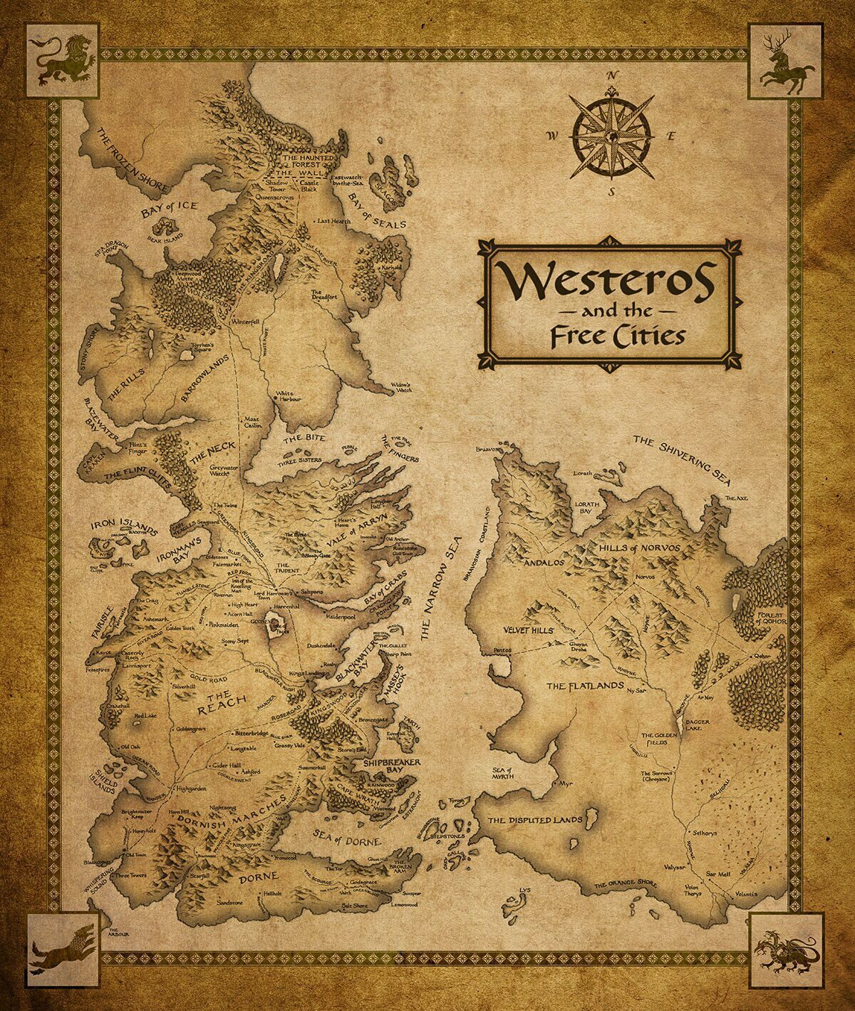 game of thrones map poster - photo #14