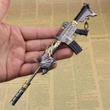 JS Metal Counter Strike Weapon Gun M4A1 Keychain CS GO Toy CSGO Russia Sniper Rifle Key Chain Keyring Porte Clef CS005 - JC cO.,Ltd store