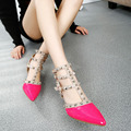 2016 New Design Femme Zapatos Mujer Shoes Woman Pumps High Heels Ladies Shoes Ankle Strap Summer