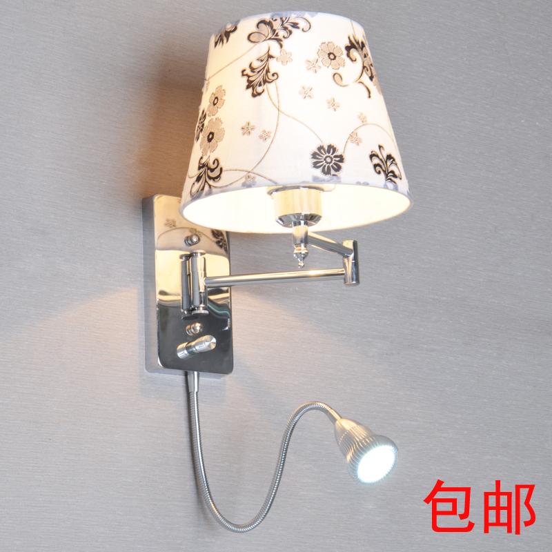 Led Wall Lamp With Switch : With switch led reading wall lamp modern brief fashion wall light fabric bedside lamp rocker arm ...