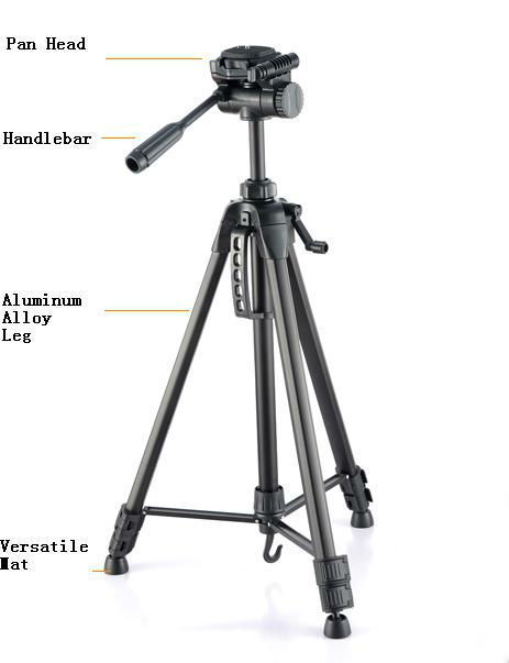 2014 [drop Shipping] Professional Lightweight Photographic Tripods Tripod Kt-2018 with Dv Head, Camera, Tripod,flexible Camera