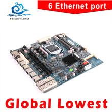 6 Lan Mainboard  Motherboard 6 Lan Firewall Board Router Board Fan and DC 12V Motherboard(China (Mainland))