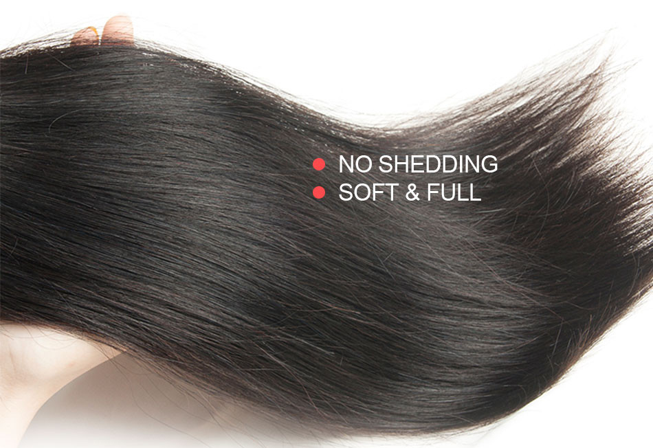 Peruvian Virgin Hair Straight 3PCS Rosa Hair Products 7A Unprocessed Peruvian Straight Virgin Hair  Human Hair Weaves Bundles