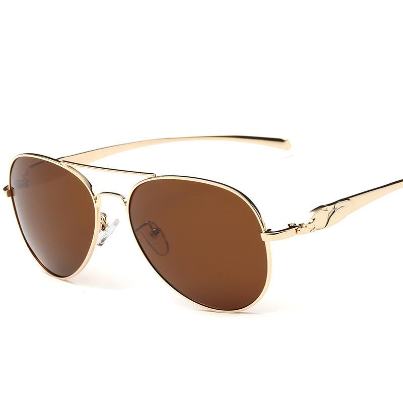 Big Frame Aviator Glasses : Leopard head polarizer big frame classic UV400 Aviator ...