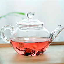 New Arrival 250ml Filter Transparent Glass Teapot Heat Resistant Flower Tea Set Coffee Teapot Convenient Kitchen Office Tea Set
