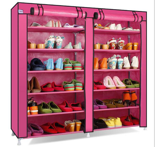 Simple dust shoe cabinet storage rack double large capacity IKEA shoe multi simple shoe rack(China (Mainland))