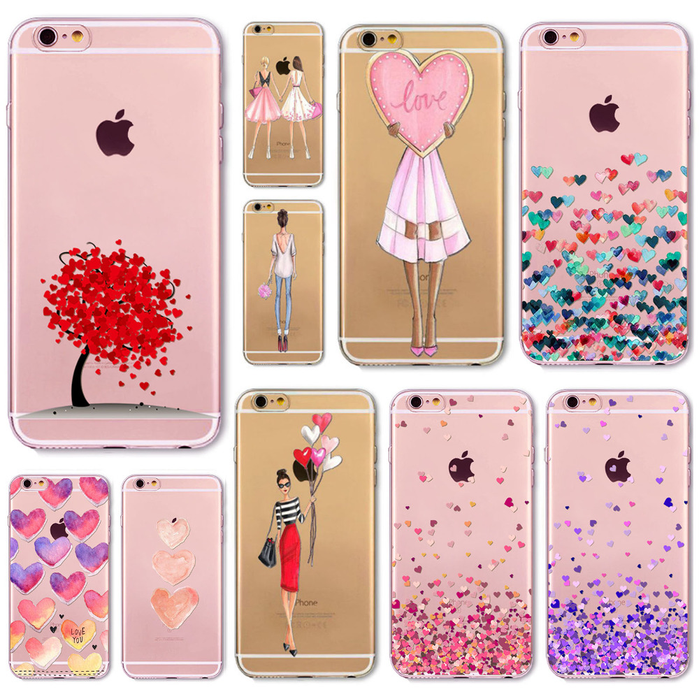 Sexy Fashion Noble Phone Fundas For iPhone 6 6S 6Plus 6sPlus 4 4s 5 5s SE 5c Phone Back Skin Cover Soft TPU Coque Phone Case(China (Mainland))
