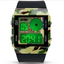 2016 Skmei марка часы мужчины военный из светодиодов цифровые часы человек погружения 50 м мода открытых площадках наручные часы часы relogio masculino
