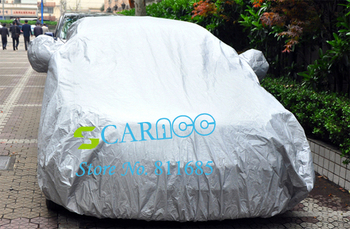 Newest universal auto car covers Anti UV Cover for HondaF6/2.4, Santana 3000, Peugeot 408 4.5-4.9m color Silver 12475