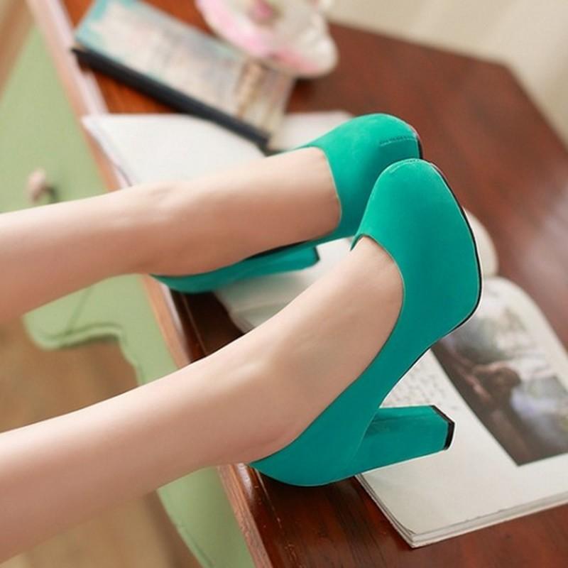 2016 Fashion Wedding Pumps Sexy High Heel Shoes Brand Design Platform Women Party Shoes heeled footwear plus Big size 34-43