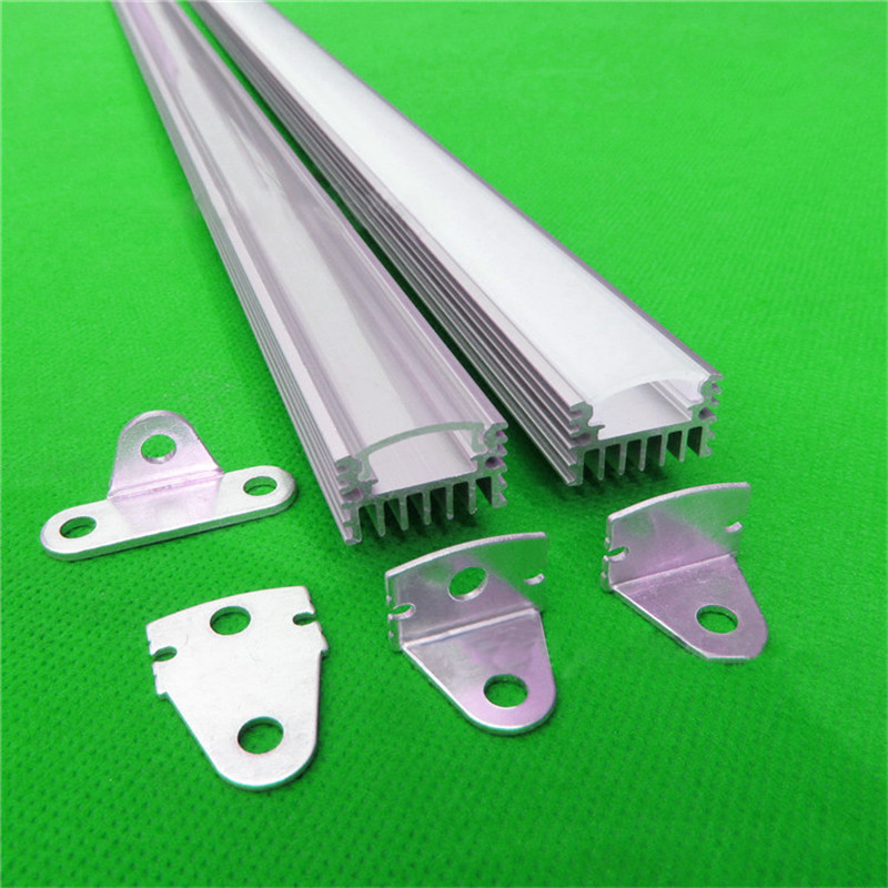 10pcs/lot DHL 40inch 1m led bar light , led rotary aluminium profile matte clear cover,heat sink alu channel with rigid strip(China (Mainland))