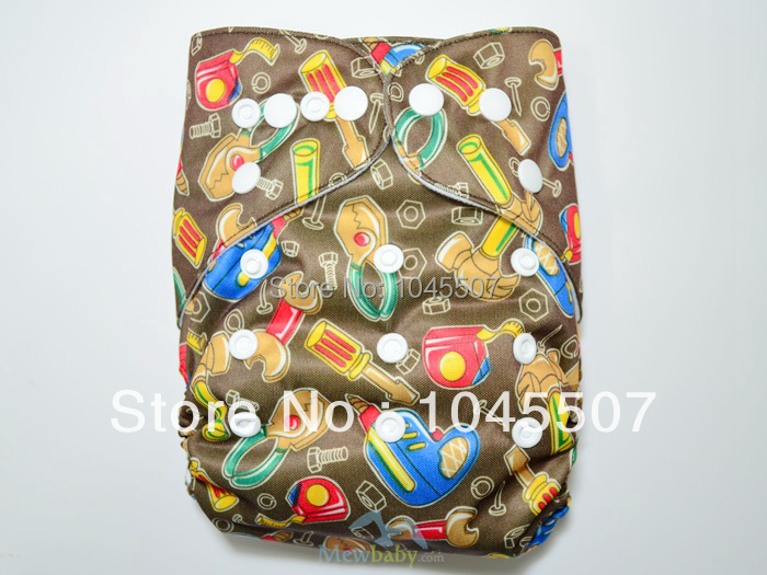 Tools Printed  Baby Diapers Nappies Reusable Diapers +1PC Insert FT35 Free Shipping