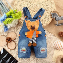 2016 hot!! sale 1 pc/lot summer 100% cotton baby cowboy overalls for 0-3 years baby girls & boys with 73/80/85/90 aTSK0035(China (Mainland))