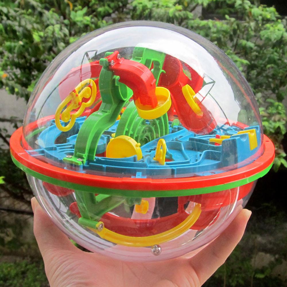 100Steps 3D Magic Intelligence Ball Educational Maze Cube Amazing Balance Toy For Kids Magic Rolling Globe Ball Sphere Maze(China (Mainland))