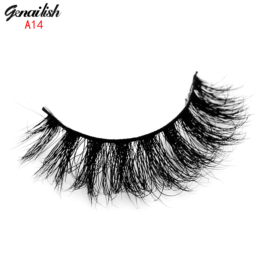1 pair False Eyelashes 3D Mink Eyelashes Handmade Natural Eyelashes Fake Eye Lashes Full Strip Extension for Beauty Makeup-A14(China (Mainland))