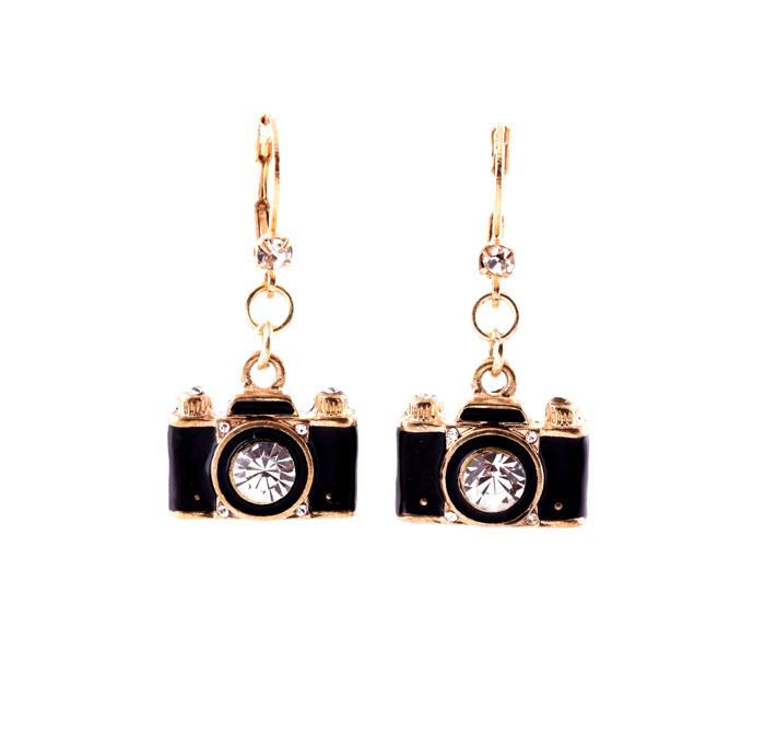 Earring jusulike accessories drop cute gift chrismas 2014 lovely photo your friend camera female earrings<br><br>Aliexpress