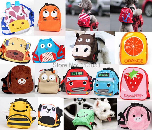 Pet Supplies Pet Bag Carrier Dog Backpack Puppy School Bag Self Dog Bag Harness Vest Outdoor Portable Travel Tote S/L 1PC(China (Mainland))