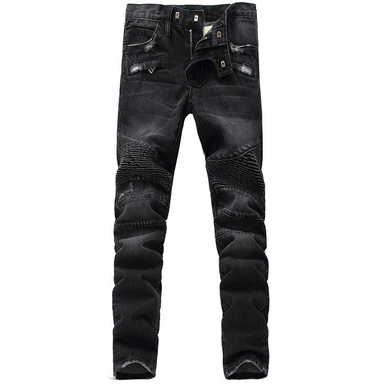 NWT BM famous Fashion brand jeans men skinny mens Casual pants denim biker jean vaqueros pantalones ripped - JACK ANTONG SHOP store