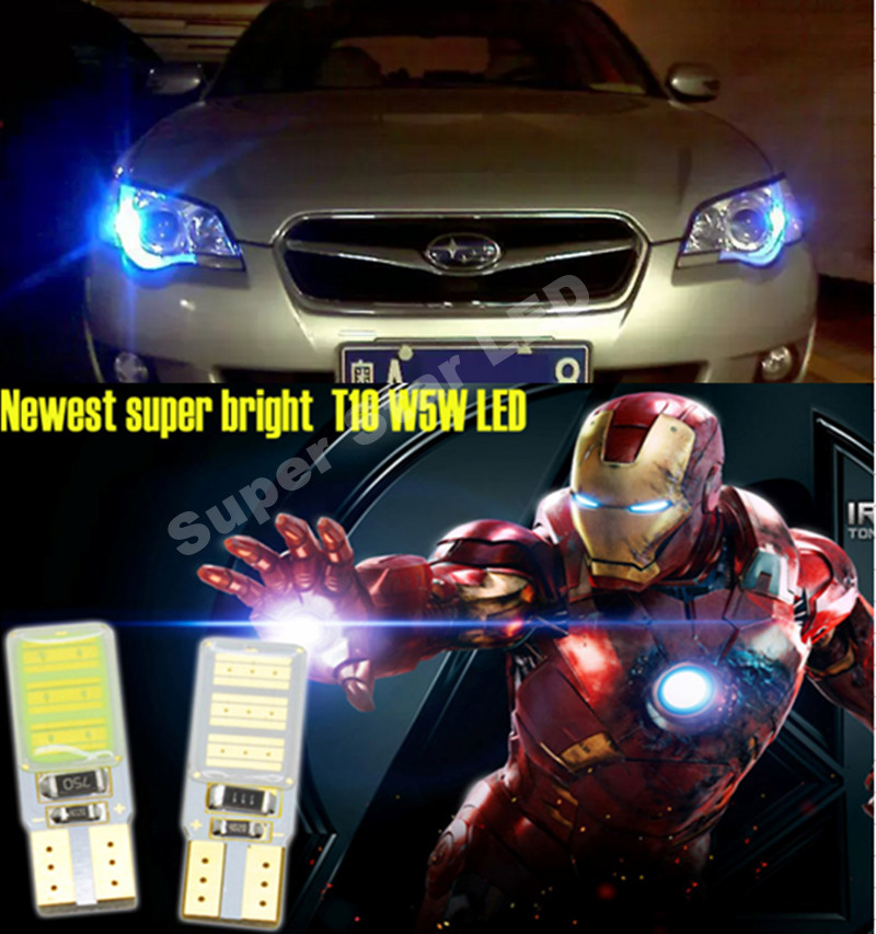 2x T10 W5W  SAMSUNG  COB  LED Side  Parking Lights Marker Lamps Bulb  For  subaru impreza legacy xv forester Outback