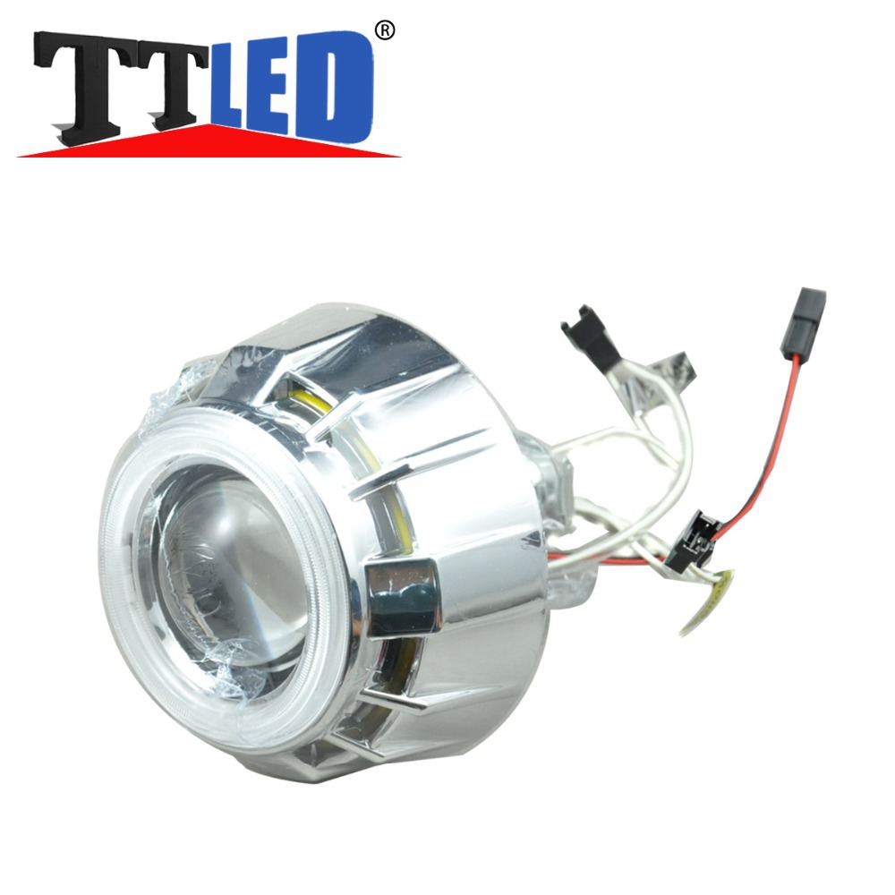 10 set 2.5 inch hid bi xenon projector lens Angle eyes headlights 2.5 kits for H4 H1/H7 9004/9007/9005/9006 head lamp #TM47-2
