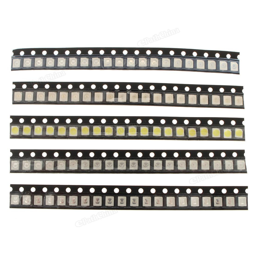 LED Strip Lights 5PCS 1206 SMD SMT LED Strip Lights Lamp Super Bright 5 Colors Beads For Motorcycle Car Room(China (Mainland))