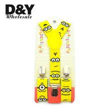 2016 New arrival Children boy girl Cute Carton Plaid Music Braces adjustable Elastic Suspender 15 Designs Y-back Suspenders(China (Mainland))