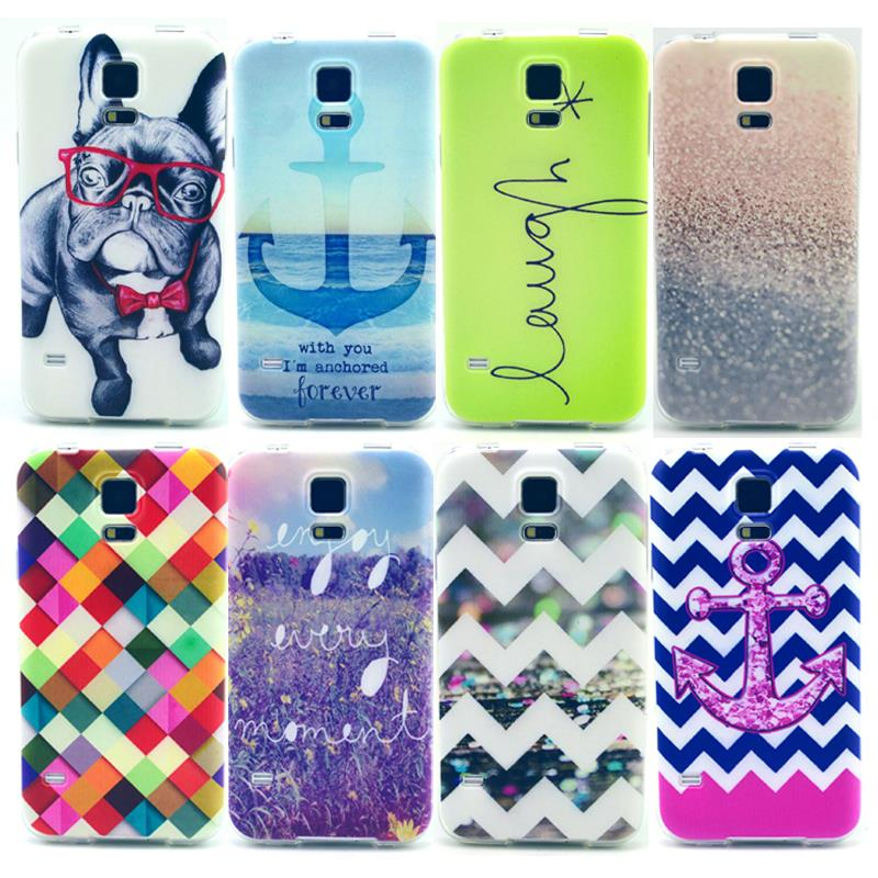 For Samsung S5 Mini Luxury Quality Fashion Flower Owl Design TPU IMD Tower Balloon House Water ripples Back Silicone Phone Case(China (Mainland))