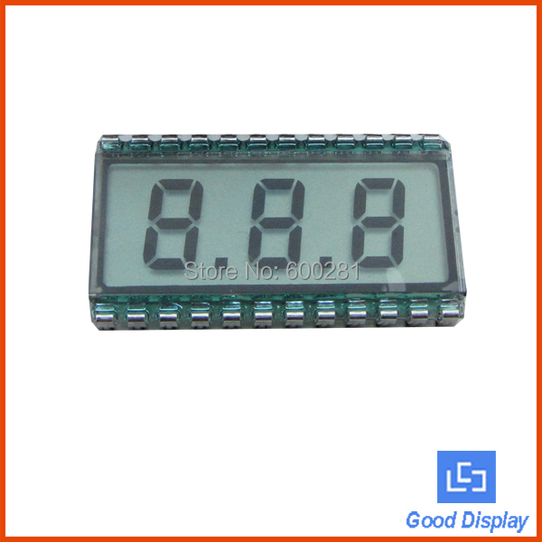 3 digits with dots 7 segment lcd tn lcd display 812(China (Mainland))