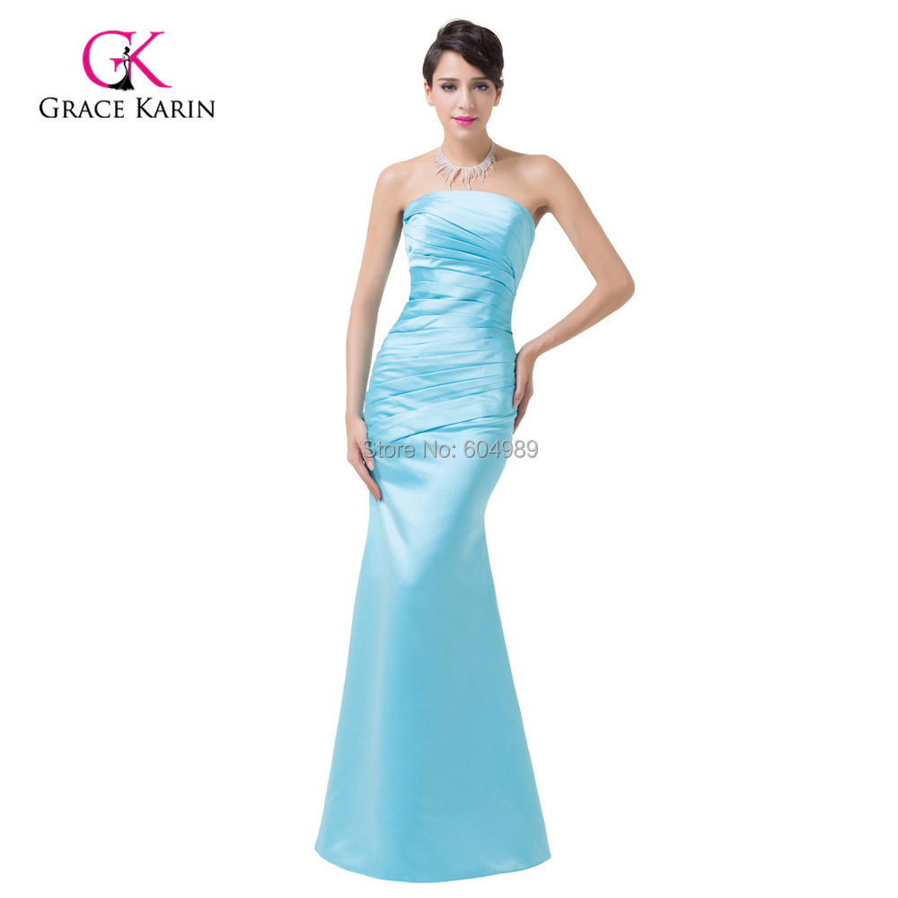 2016 sky blue bridesmaid dresses long grace karin for Wedding party dresses for women