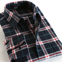 Spring Fall 2016 New Mens Casual Plaid Shirts Long Sleeve Slim Fit Comfort Soft Flannel Cotton Shirt Leisure Styles Man Clothes(China (Mainland))