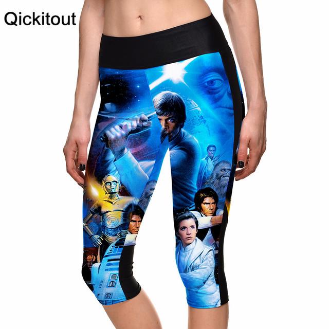 Прямая поставка S-XL новый 2015 7 точка брюки девушки звездные войны технологии цифровой ...