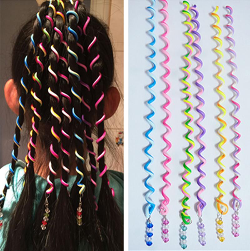 6 Pcs/Set Kids Curler Hair Braid Hair Sticker Baby Girls' Decor Hair Accesories(China (Mainland))