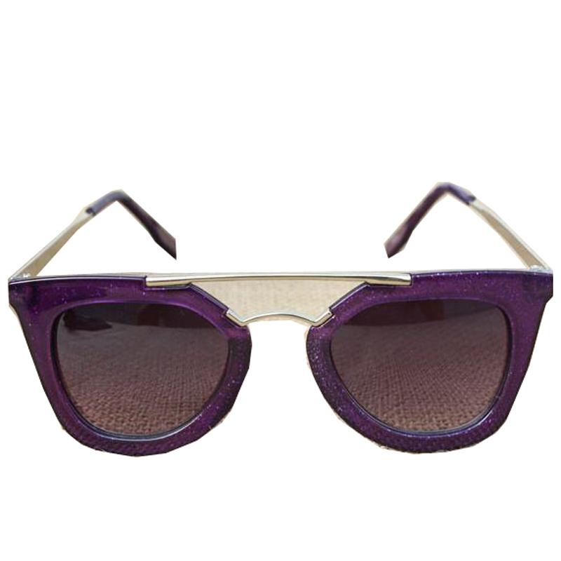 2015 Brand New Lady's Sunglasses Double beam eyewear Black Fashion Designer Sunglasses Vintage metal frame sunglasses(China (Mainland))