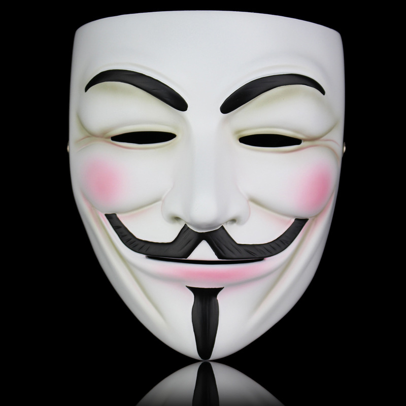 The V for Vendetta Party Cosplay Masque Mask Anonymous Guy Fawkes Fancy Dress Adult Costume Accessory Macka Mascaras Halloween(China (Mainland))