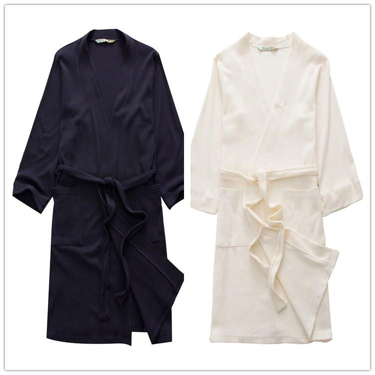 2015 hot sales Women's bathrobes pajamas male bathrobe soft thin gown Waffle robe dressing gown man sleepwear nightgown homewear(China (Mainland))