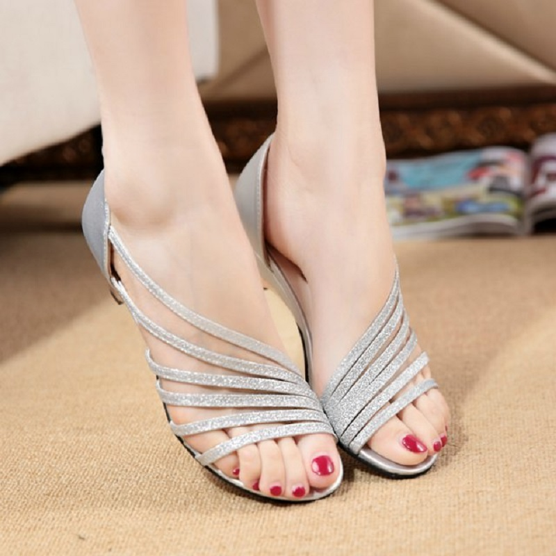 2016 summer new women fashion sexy sandals strand empty fish head shallow mouth low-heeled sandals comfortable sandals(China (Mainland))