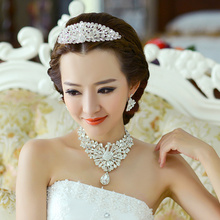 bride accessories bridal accessories chain sets the wedding hair accessory piece set the bride necklace set(China (Mainland))