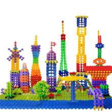 100 stücke Schneeflocken Kind Baby Multicolor Modell Baustein Schneeflocke Kreative Lernspielzeug Frühen Vorsprung Ausbildung(China (Mainland))