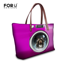 Buy FORUDESIGNS Womens Handbag Cute Animal Cat Dog Print Ladies Tote Shoulder Bag,Large Summer Beach Bags Women Designer Handbags for $23.19 in AliExpress store
