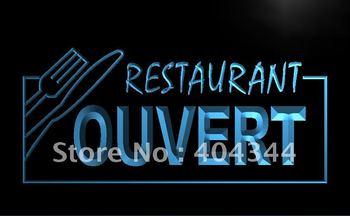 LK184- OUVERT Restaurant OPEN Food LED Neon Light Sign