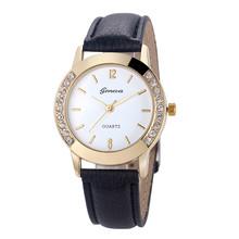 Fashion Women Geneva Quartz Watch Analog Leather Relogio Feminino Wrist Watch Relojes Mujer Women Watches