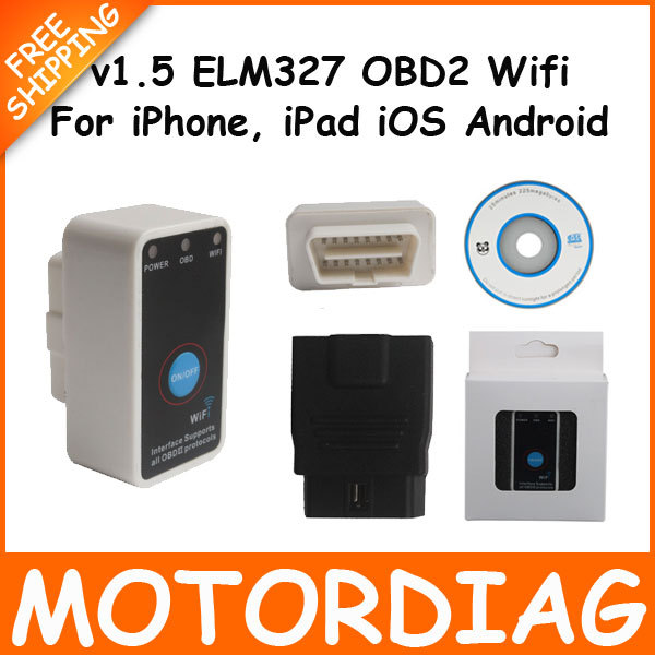 V1.5 Mini ELM327 WiFi Switch Car Fault Detector OBDII Wi-Fi OBD2 ELM 327 Wi Fi Code Reader Automotivo Scanners Automotive(China (Mainland))