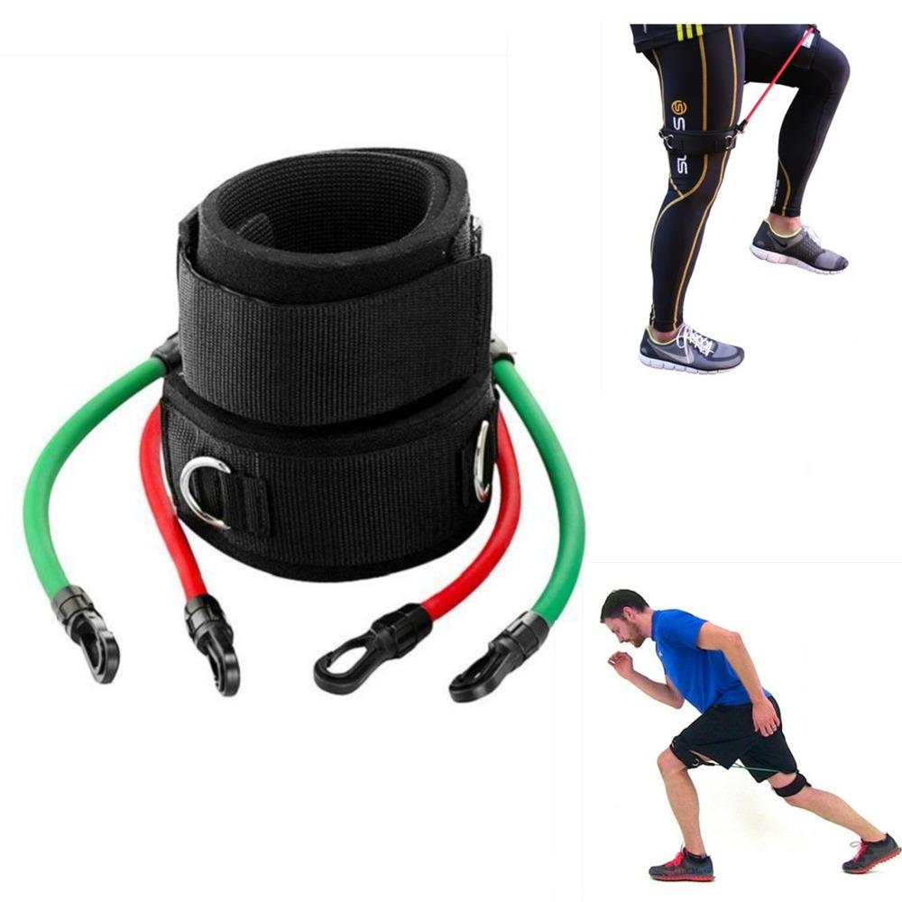 Leg Straps Speed Strength Training Resistance Trainer Kinetic Tube Bands Workout Fitness Baseball Football Kick Punch Taekwondo(China (Mainland))