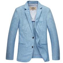 2016 slim linen suit men's clothing suit male three button outerwear jacket high quality plus size S M L XL XXL 3XL 4XL 5XL
