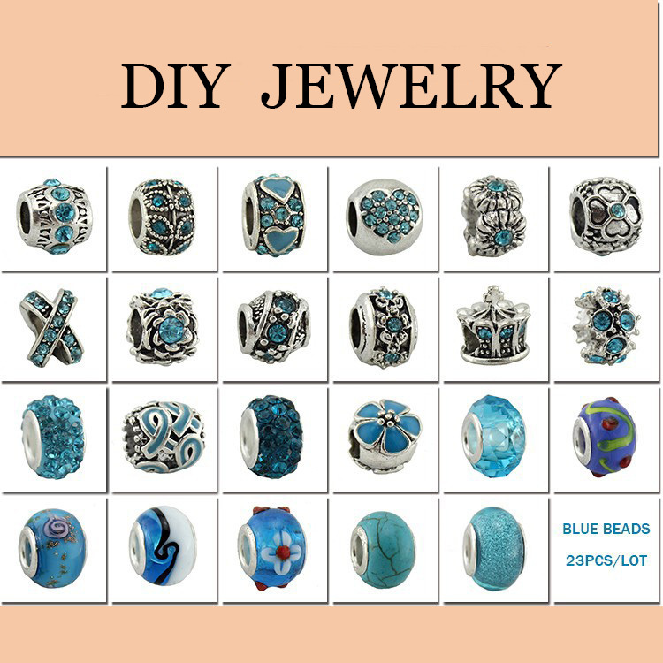 Fashion Jewelry 925 Sterling Silver European Beads Fits Charm pandora Bracelets necklaces pendants Batch Sale 5 colors for Women(China (Mainland))