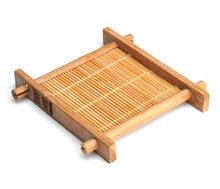 Tea Bamboo Fun pad kung fu tea with natural bamboo tea coaster