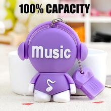 Hot Sell High Speed Cartoon Music Toys USB Flash Drives USB 2.0 Pen Drive 32GB/16GB/8GB/4GB pendrives U disk