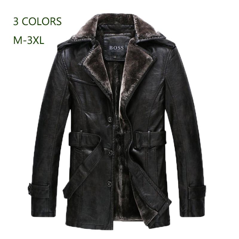 New Brand Men Genuine Leather fur Jacket Coat Long Man PU Leather Parka Male Outwear Plus Big Size 3XL jaqueta de couro 285RОдежда и ак�е��уары<br><br><br>Aliexpress