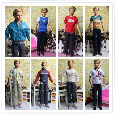 Best Selling 30cm Male Dolls Clothing Sets for Boy 1/6 Dolls Ken Clothes For Boyfriend Doll Boy Birthday Gift Free Shipping(China (Mainland))