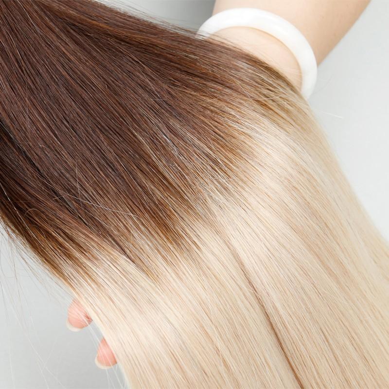 Sleek Brazilian Virgin Hair Bulk Hair Weaving, Light Colorful Human Hair, Ombre Hair Extension, T17/26 1 Piece Aliexpress UK